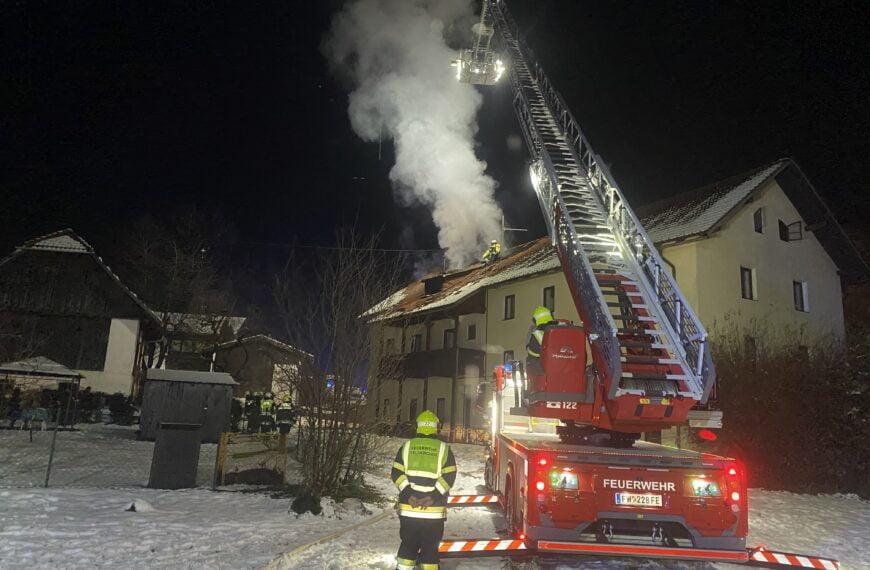 Brandeinsatz in Tiffen